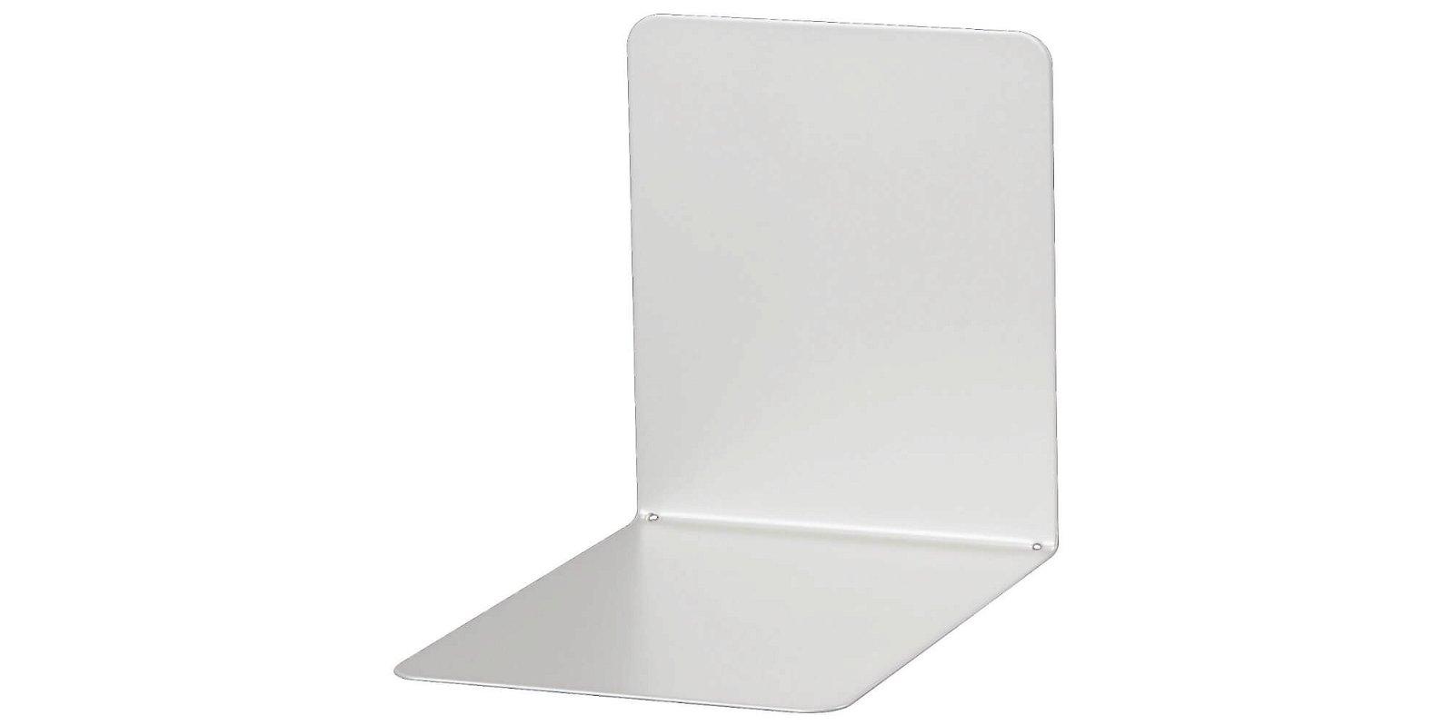 Buchstützen aus Metall, breit, 14 x 12 x 14 cm, silber