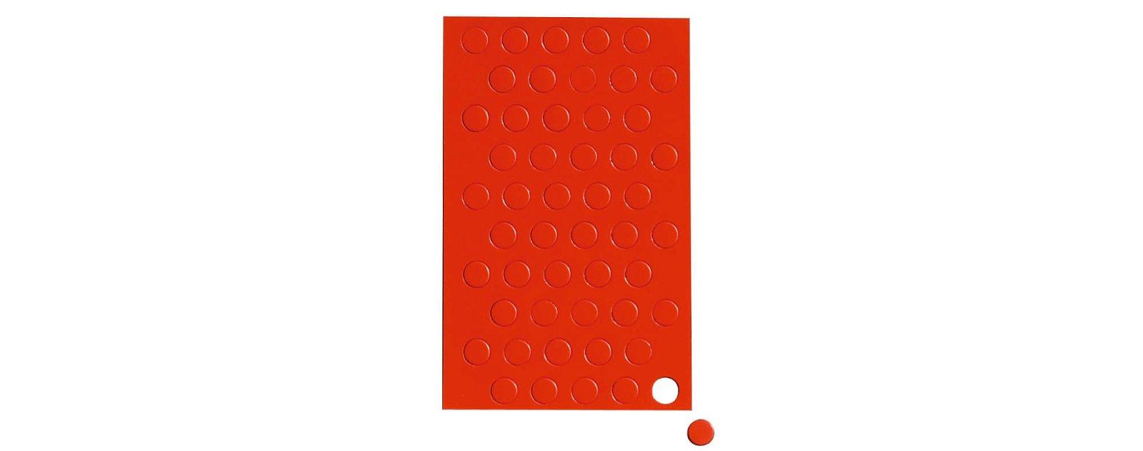 Magnetsymbole Kreis,  50 St./Btl., rot
