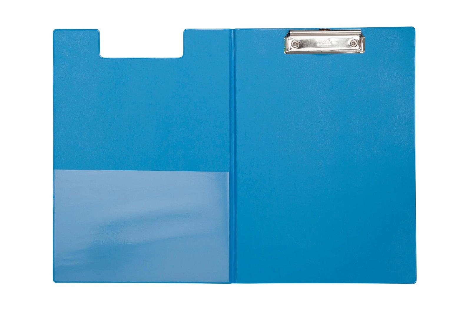 A4 Schreibmappe mit Folien- überzug, hellblau