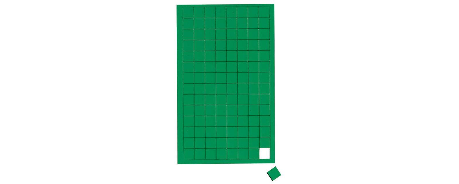 Magnetsymbole Quadrat,  112 St./Btl., grün