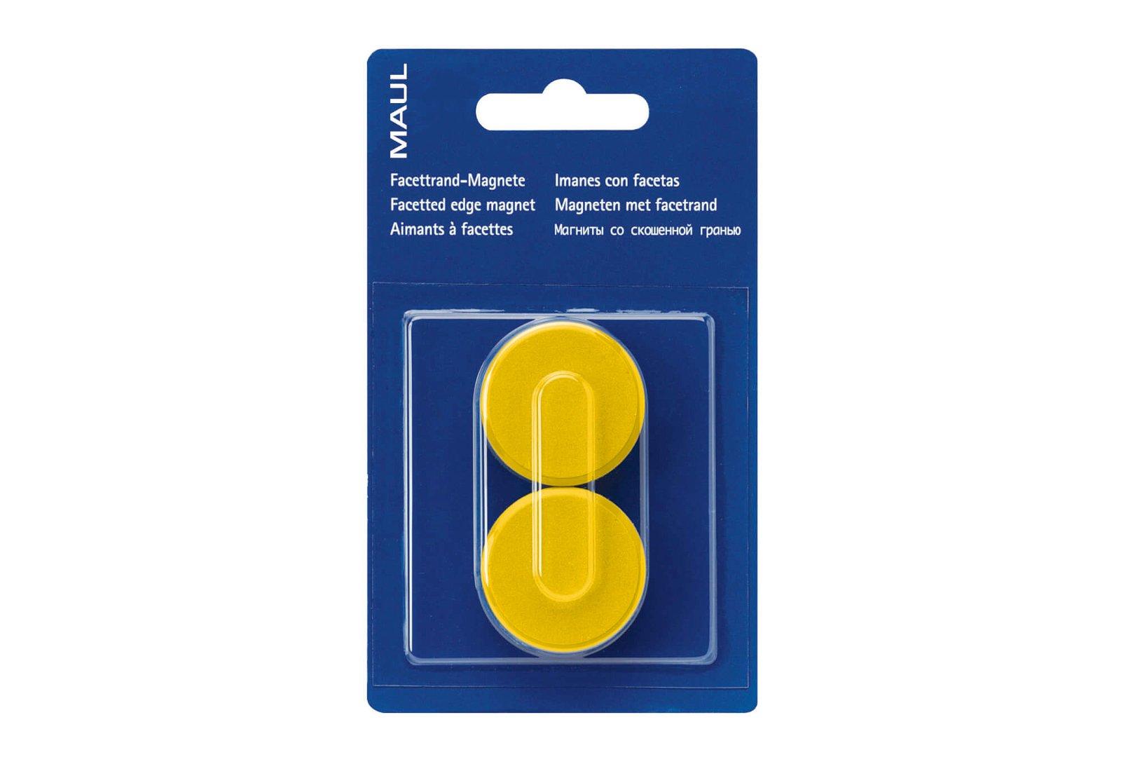 Facetterand-Magnet MAULpro SB Ø 34 mm, 2 kg, 2 St./Set, gelb