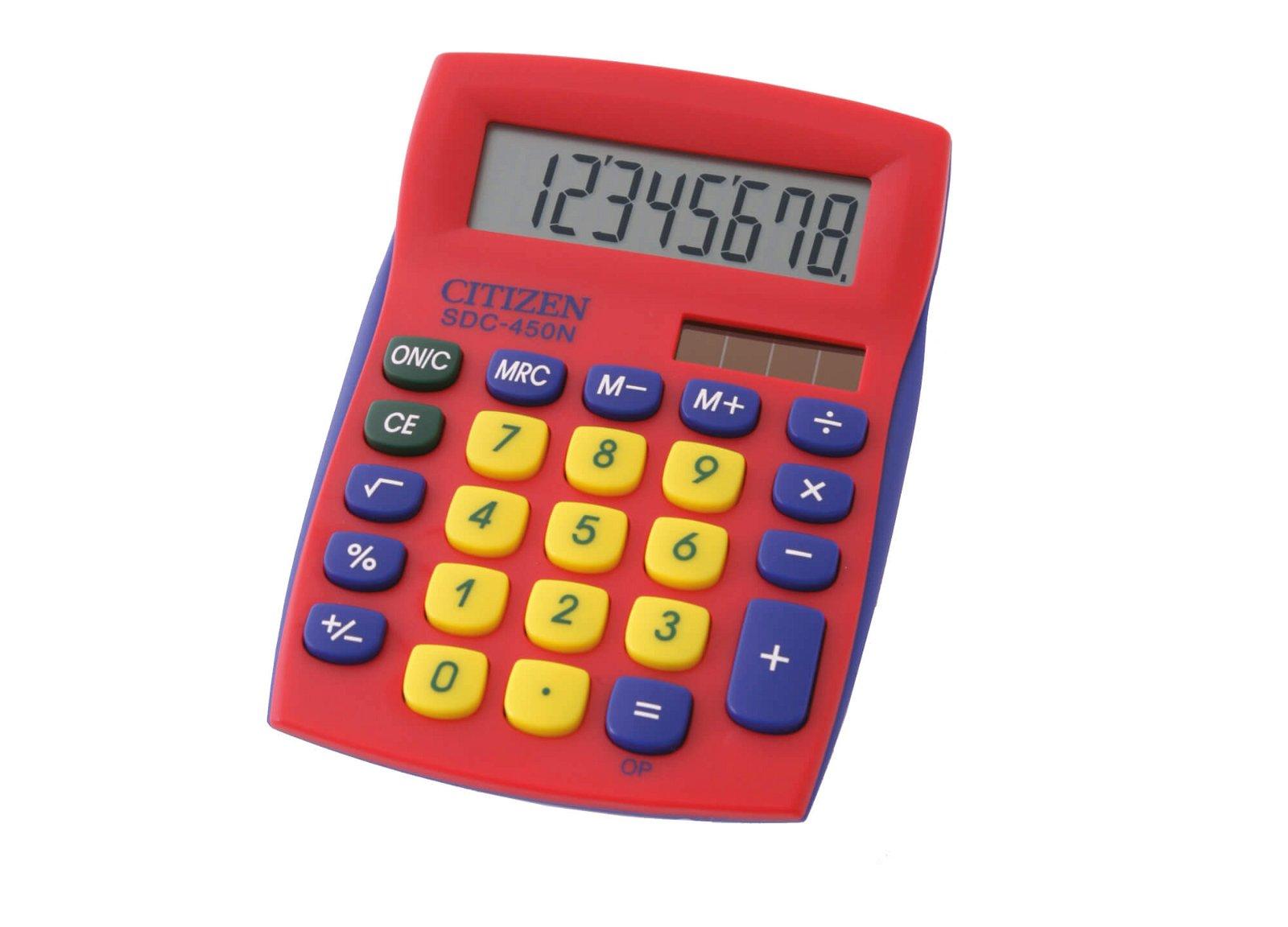 Tischrechner SDC 450NRDCFS semi, rot