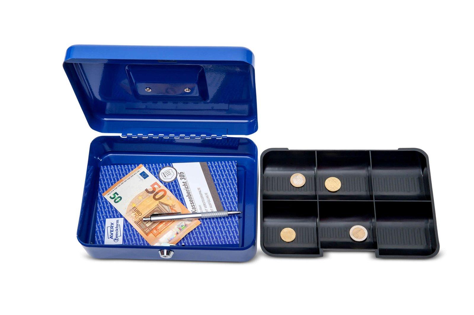 Geldkassette 3, 25 x 19,1 x 9 cm, blau