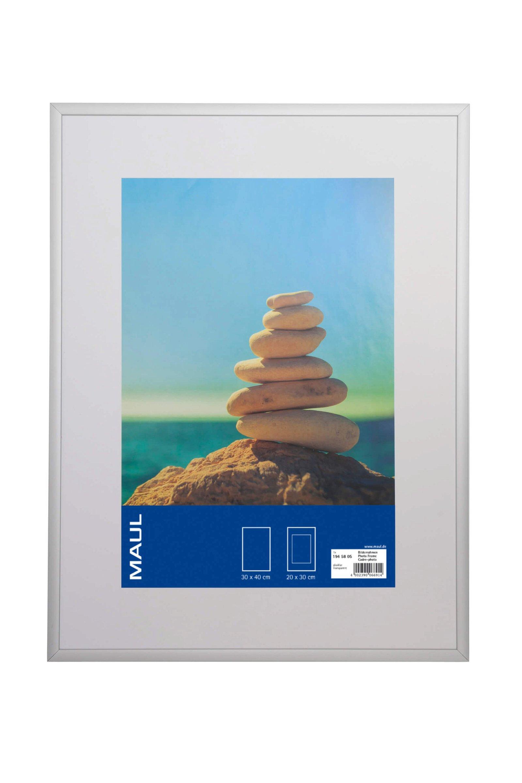 Bilderrahmen Aluminium, 30 x 40 cm, glasklar