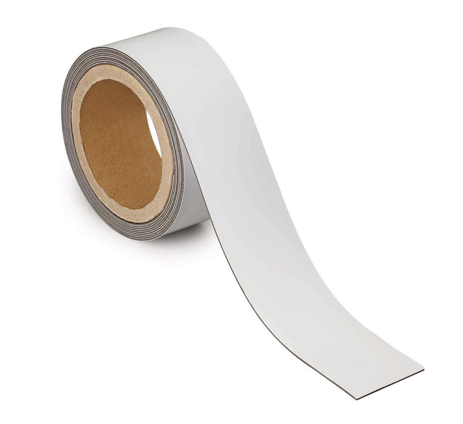 Kennzeichnungsband magnet- haftend, 3 m x 50 mm x 1 mm, weiß