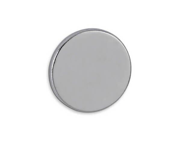 Neodym-Magnet, Ø 10x1 mm, 0,5 kg Haftkraft, 10 St./Set, hellsilber