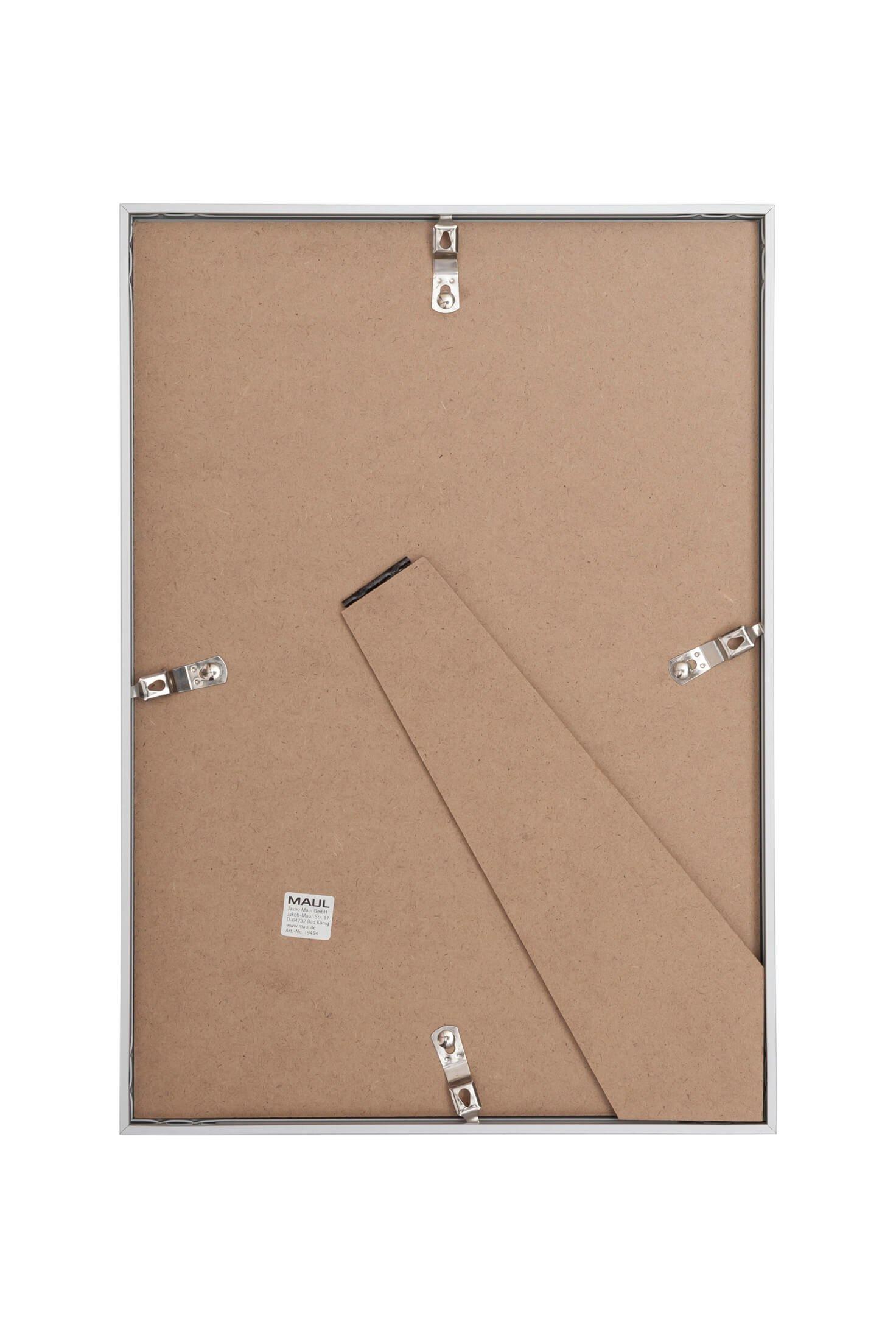 Bilderrahmen Aluminium, 21 x 30 cm, glasklar