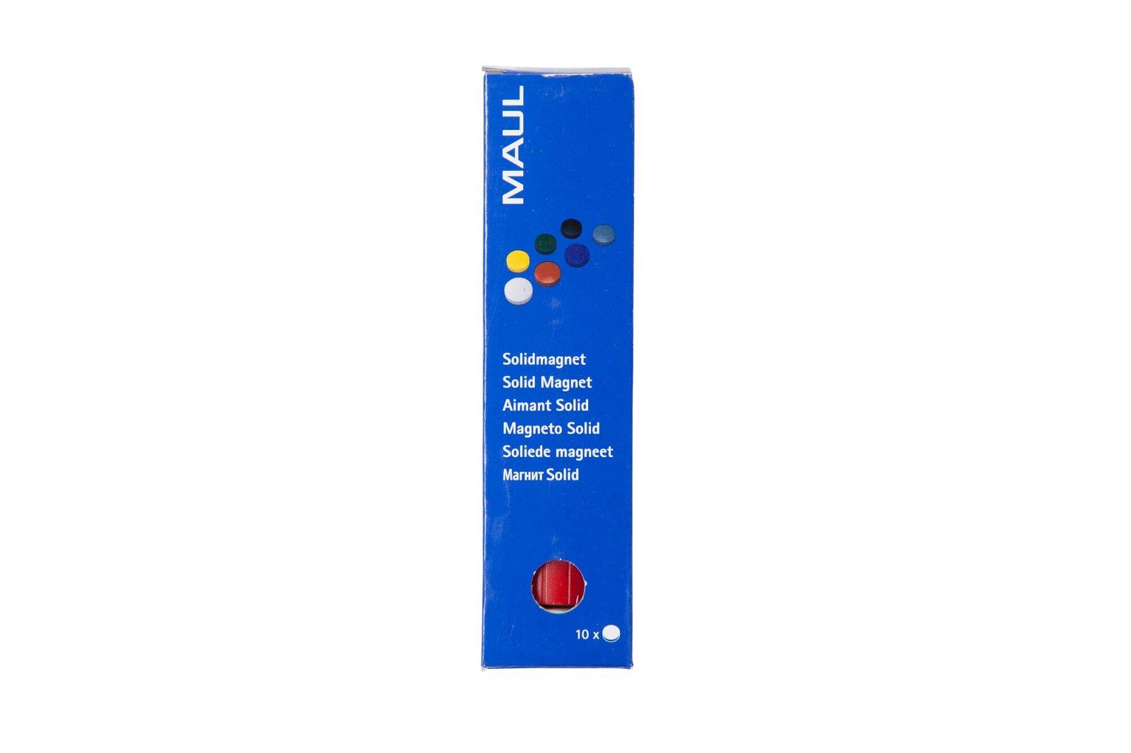 Magnet MAULsolid Ø 38 mm, 2,5 kg Haftkraft, 10 St./Ktn., farbig sortiert