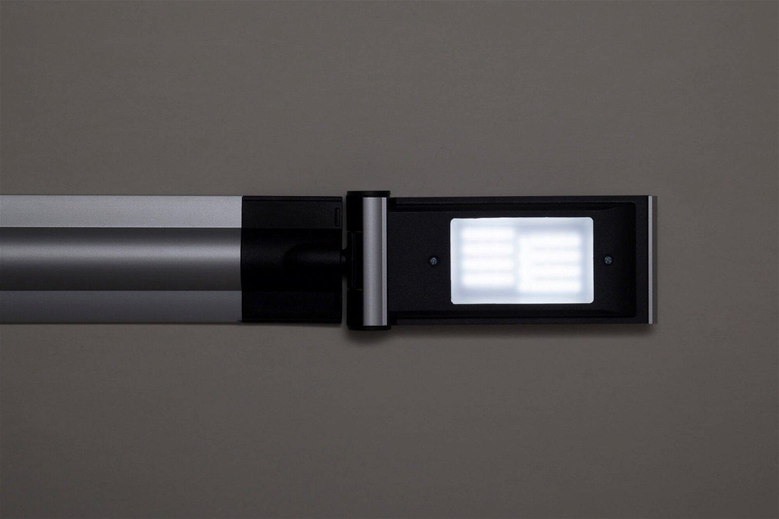 LED-Tischleuchte MAULoptimus, colour vario, dim., Klemmfuß, silber