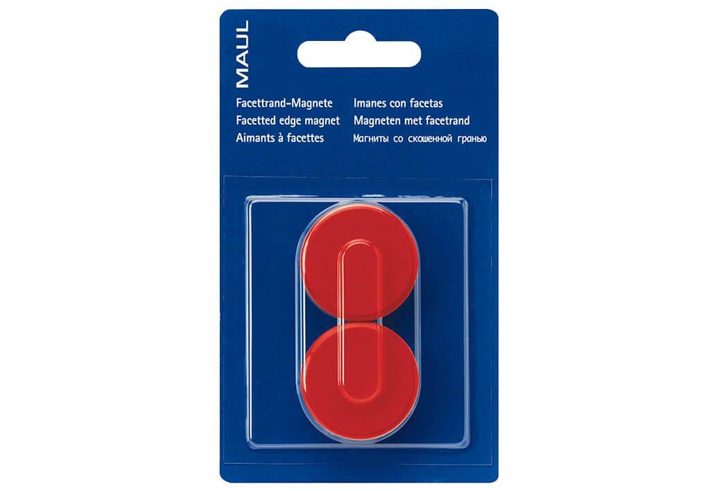 Facetterand-Magnet MAULpro SB Ø 34 mm, 2 kg, 2 St./Set, rot