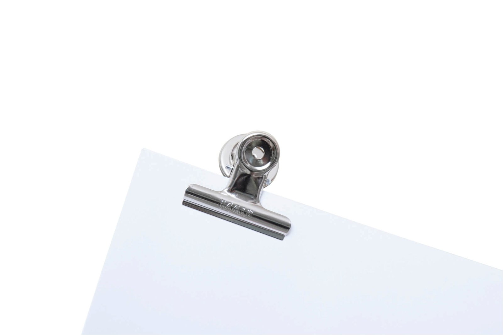 Brief-Klemmer mit Magnet, Breite 50 mm, 2 St./Set, hellsilber