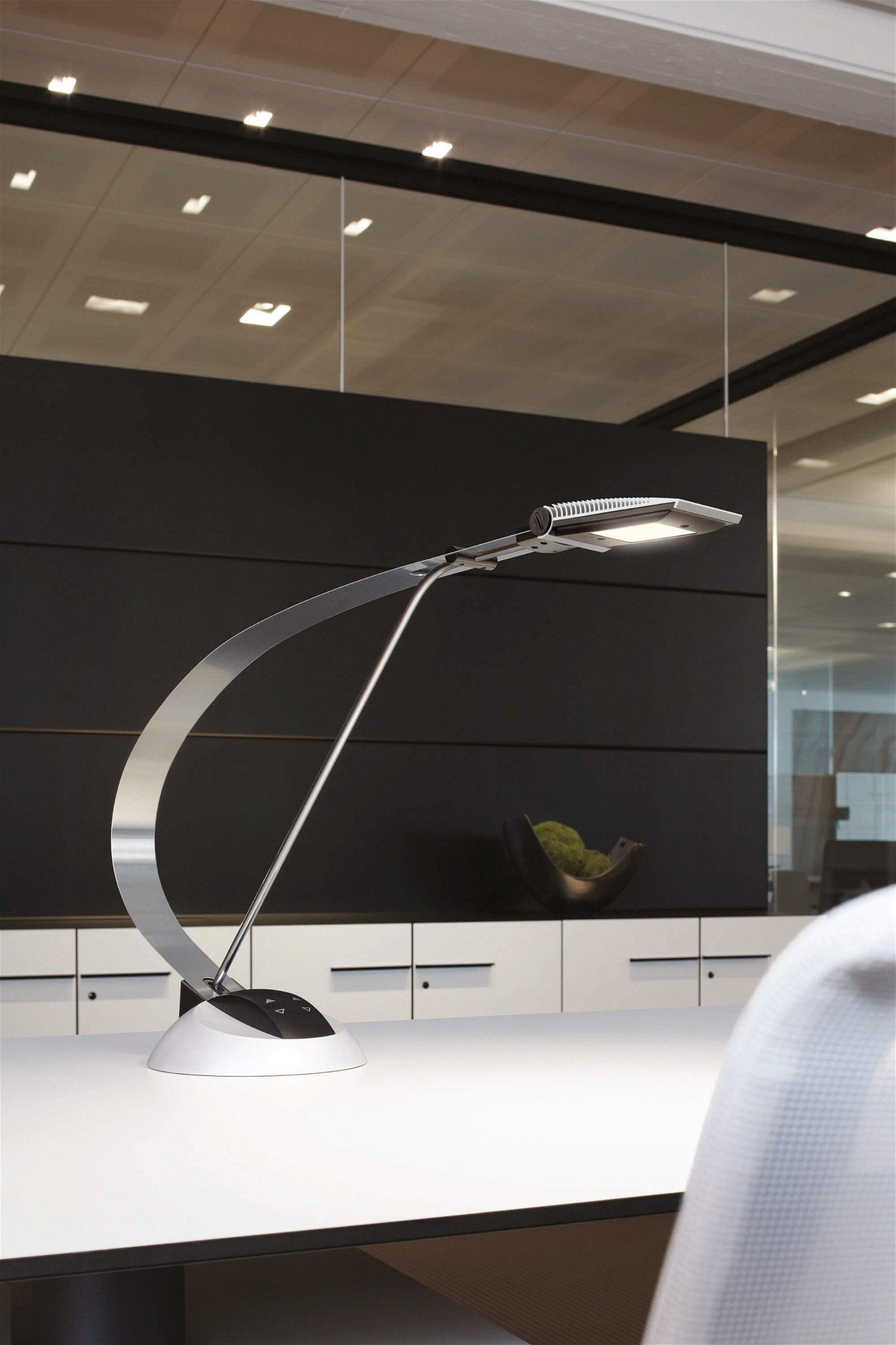 LED-Tischleuchte MAULprimus, colour vario, dimmbar, silber
