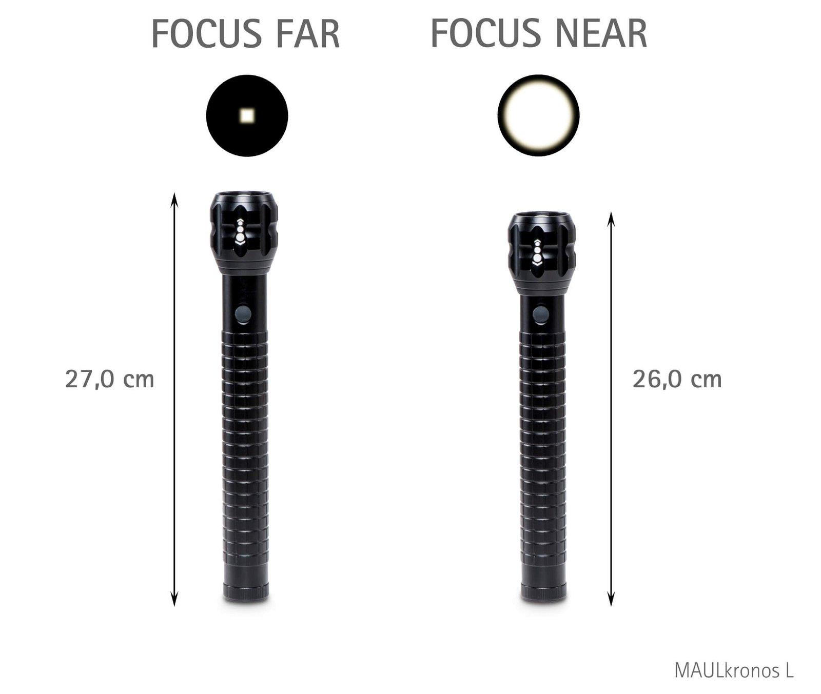 LED-Taschenlampe MAULkronos L - Zoom