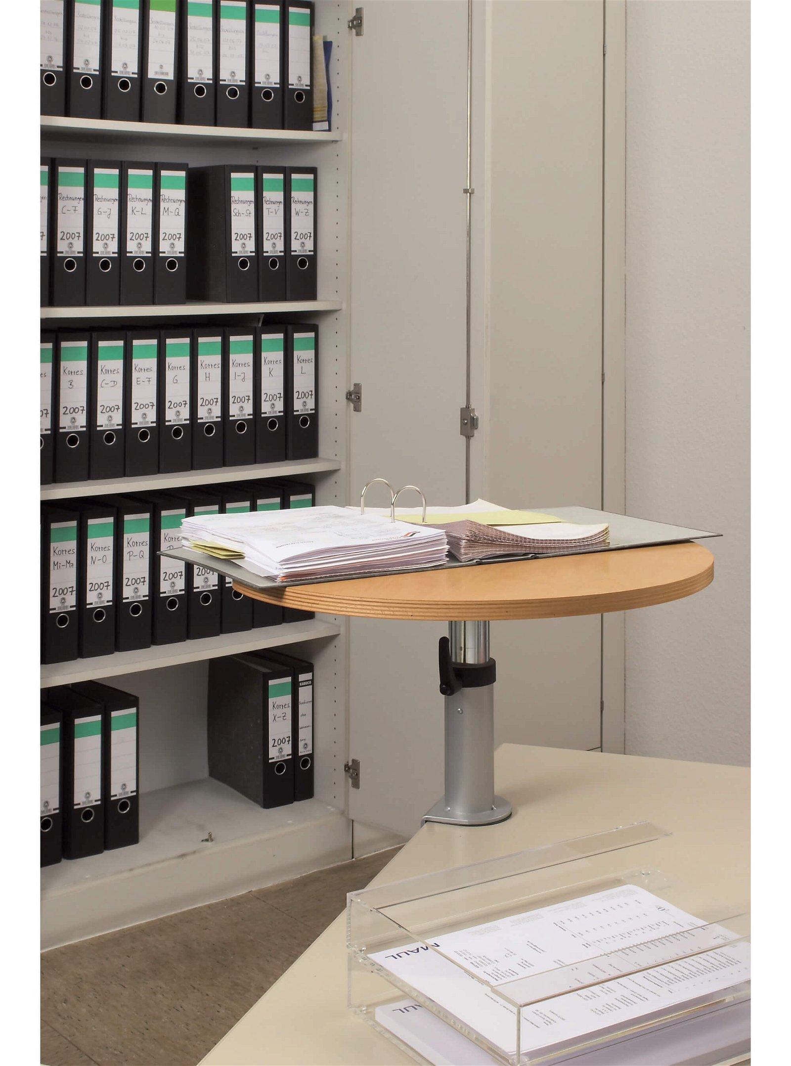 Ergonomisches Tischpult,  Klemmfuß, Platte aus Buche, holz