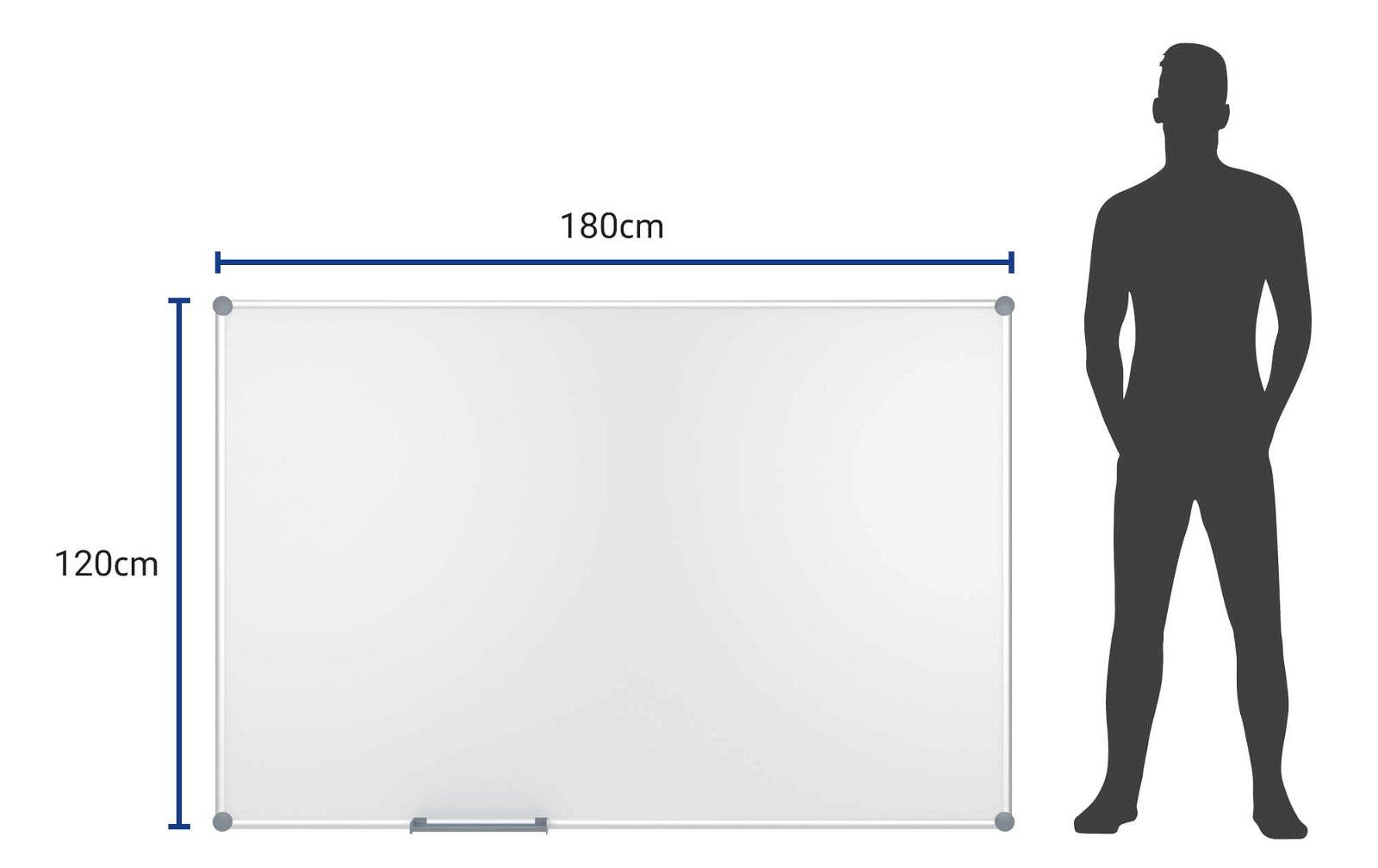 Whiteboard 2000 MAULpro, 120x180 cm, grau