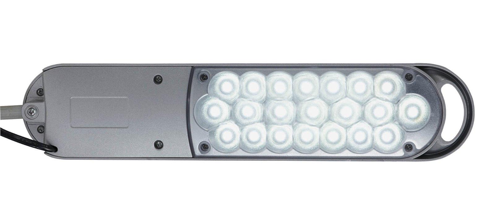 LED-Tischleuchte MAULatlantic, mit Klemmfuß, silber