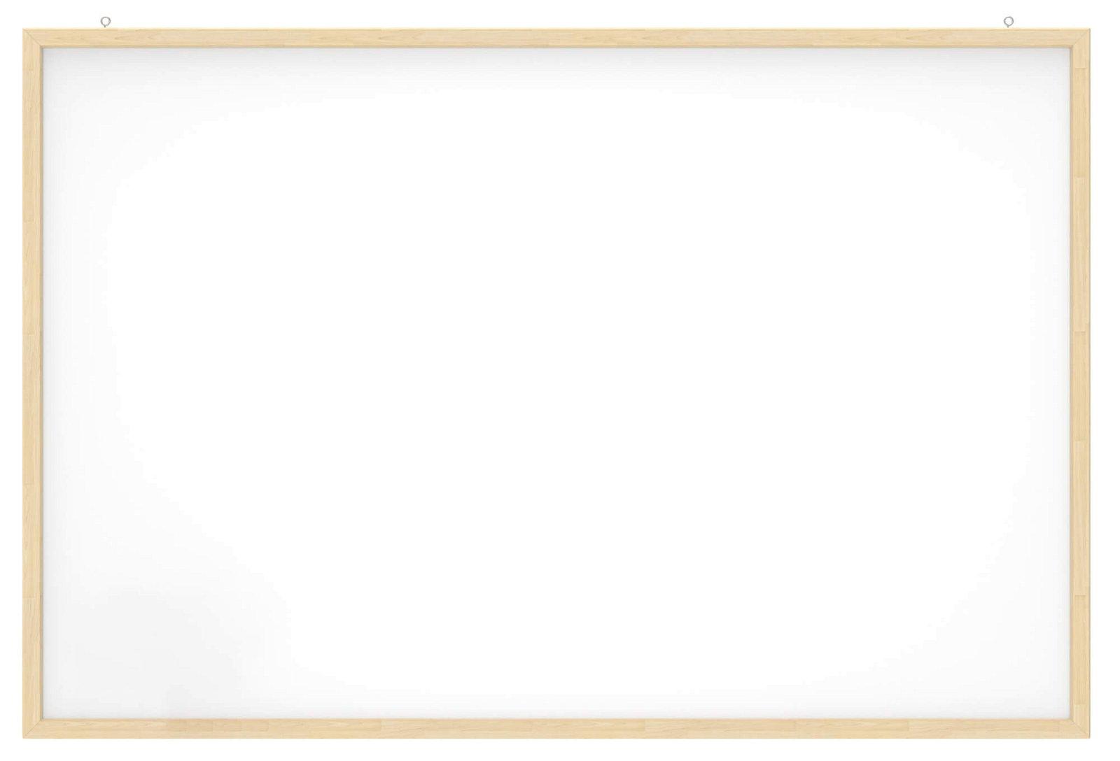 Whiteboard mit Holz- rahmen, 60x90 cm, weiß
