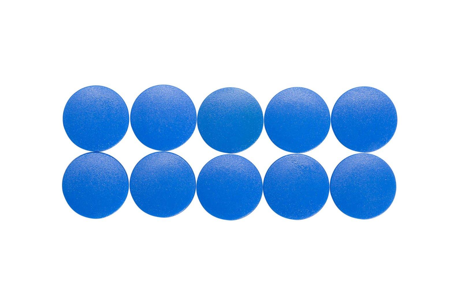 Magnet MAULsolid Ø 20 mm, 0,3 kg Haftkraft, 10 St./Ktn., blau