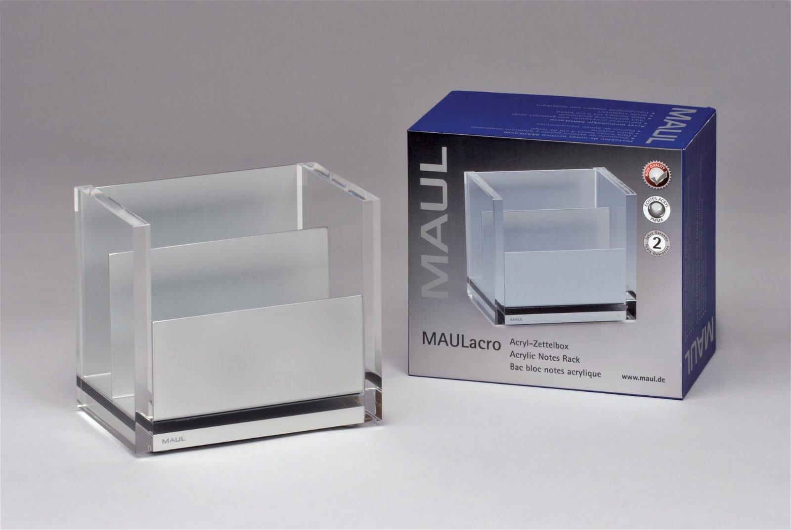 Acryl-Zettelbox MAULacro, glasklar