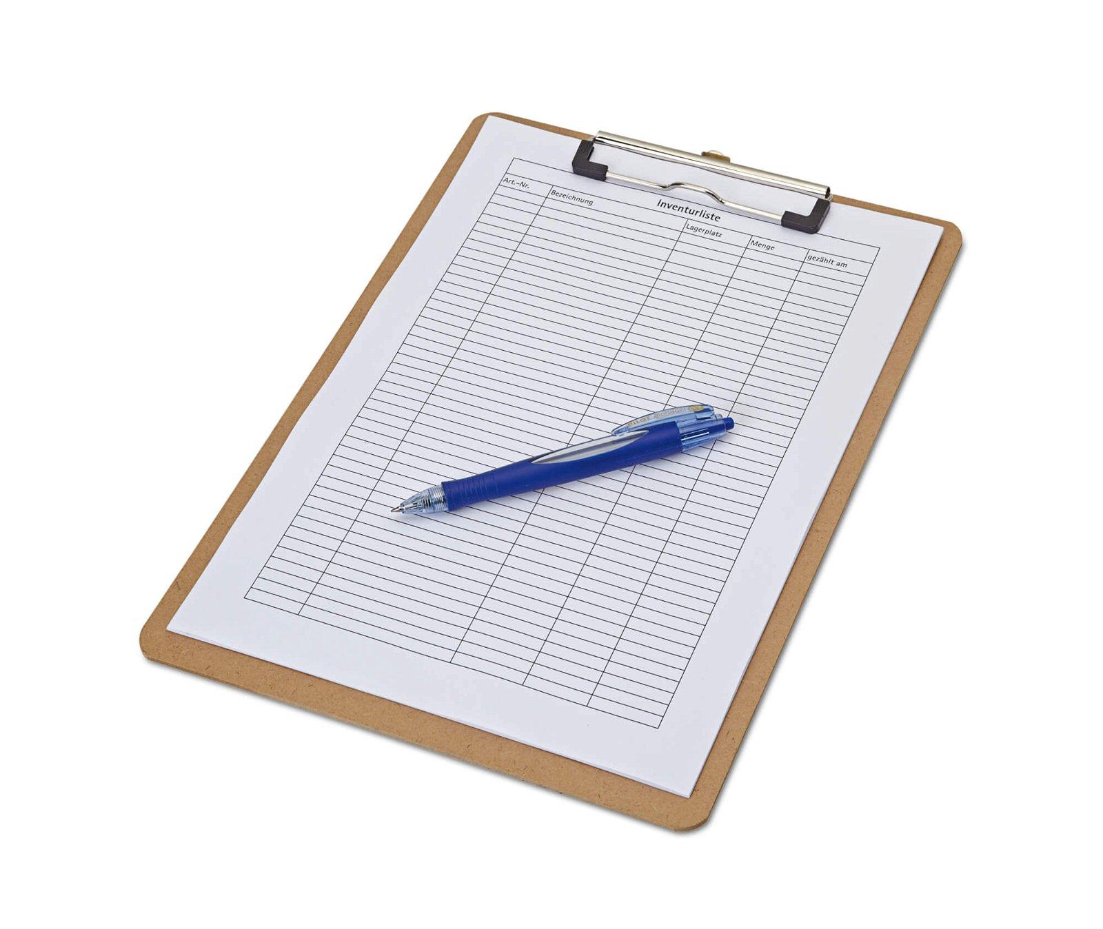 A4 Schreibplatte Hartfaser, holz
