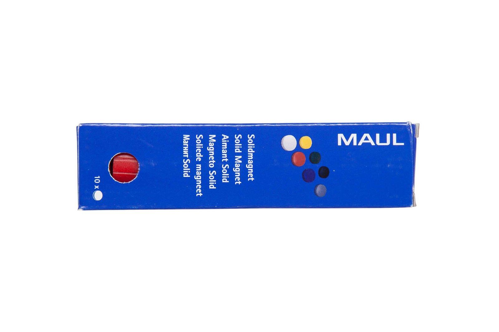 Magnet MAULsolid Ø 38 mm, 2,5 kg Haftkraft, 10 St./Ktn., rot