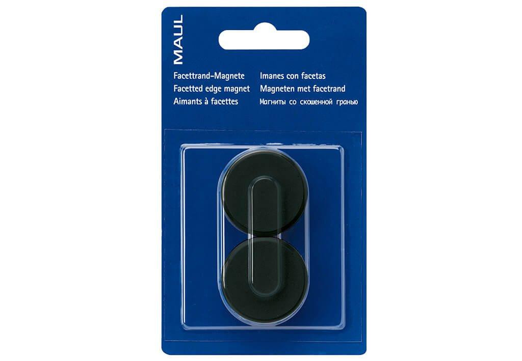 Facetterand-Magnet MAULpro SB Ø 34 mm, 2 kg, 2 St./Set, schwarz