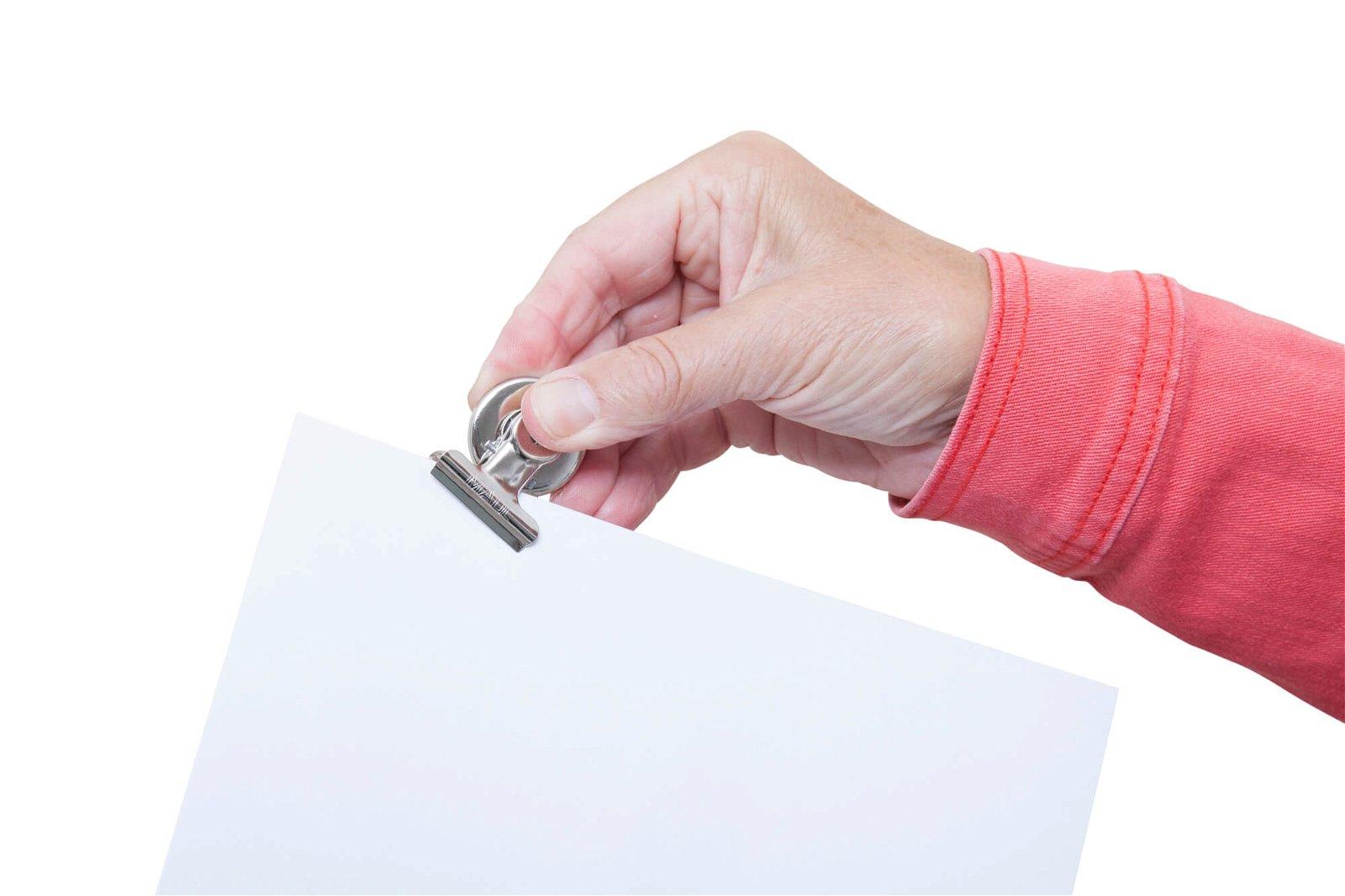 Papier-Klemmer MAULstandard mit Magnet