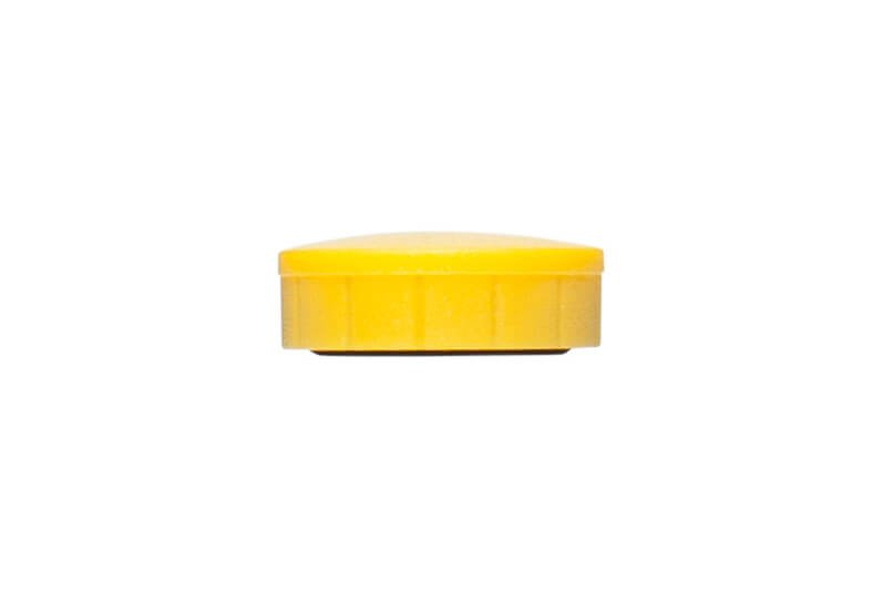 Magnet MAULsolid Ø 20 mm, 0,3 kg Haftkraft, 10 St./Ktn., gelb