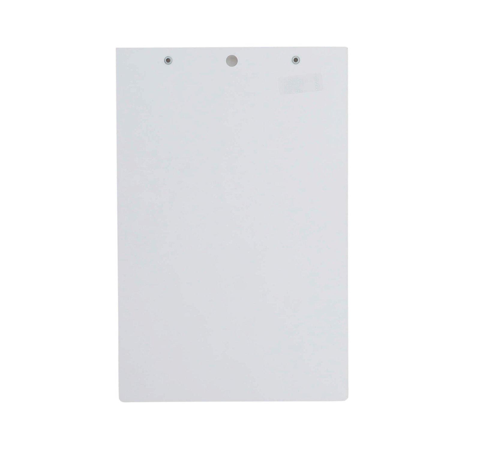 A5 Schreibplatte MAULpro Kunststoff Klemmer kurze Seite, weiß
