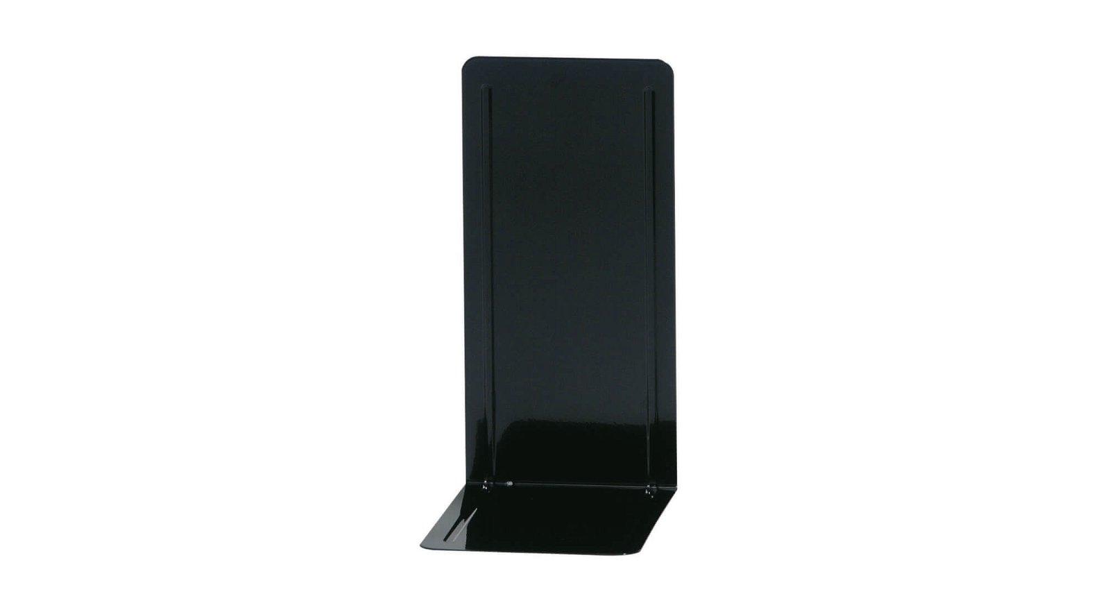 Registraturstützen schmal, 14 x 12 x 24 cm, schwarz