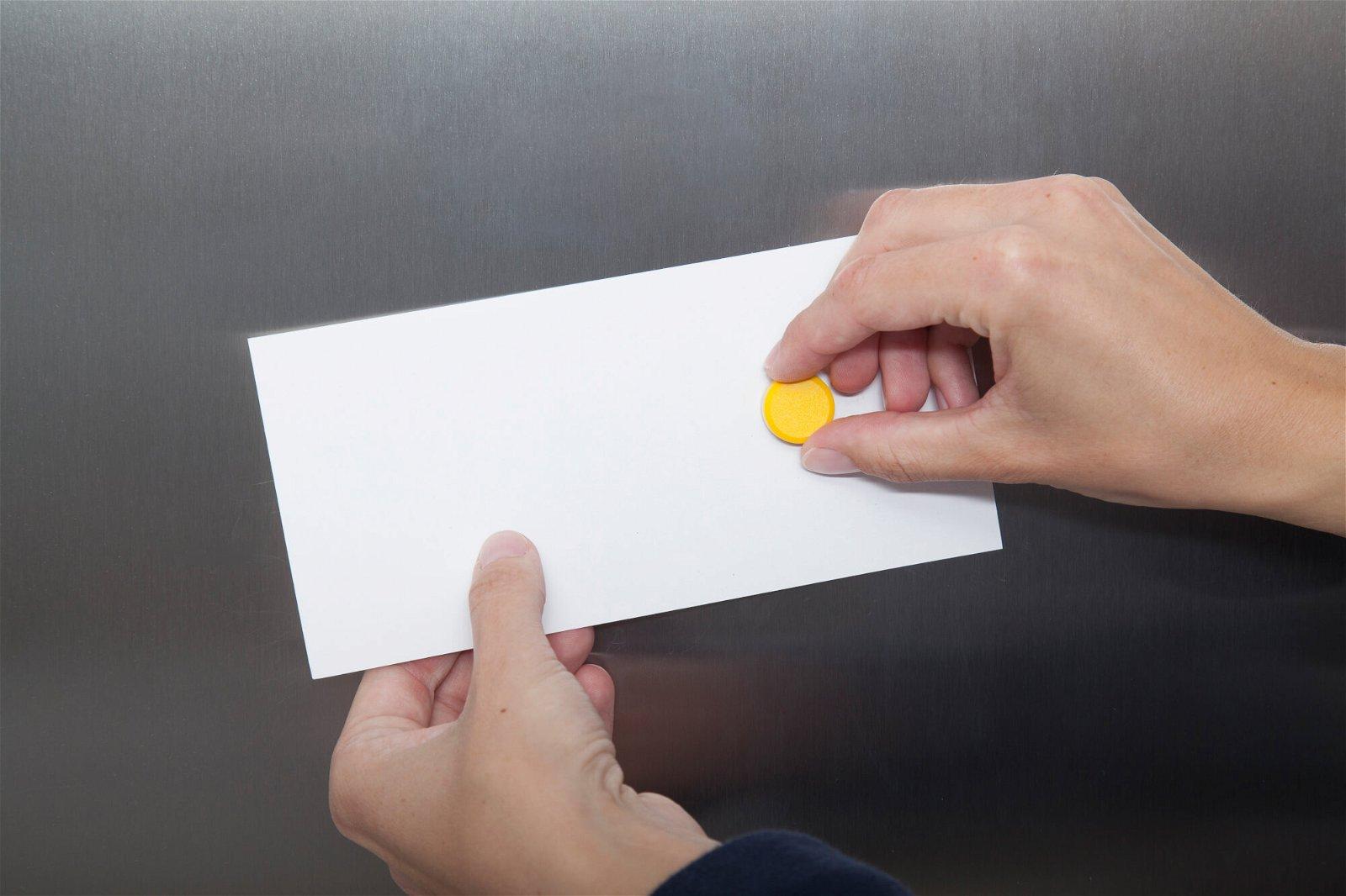 Facetterand-Magnet MAULpro Ø 20 mm, 0,3 kg, 20 St./Set, gelb