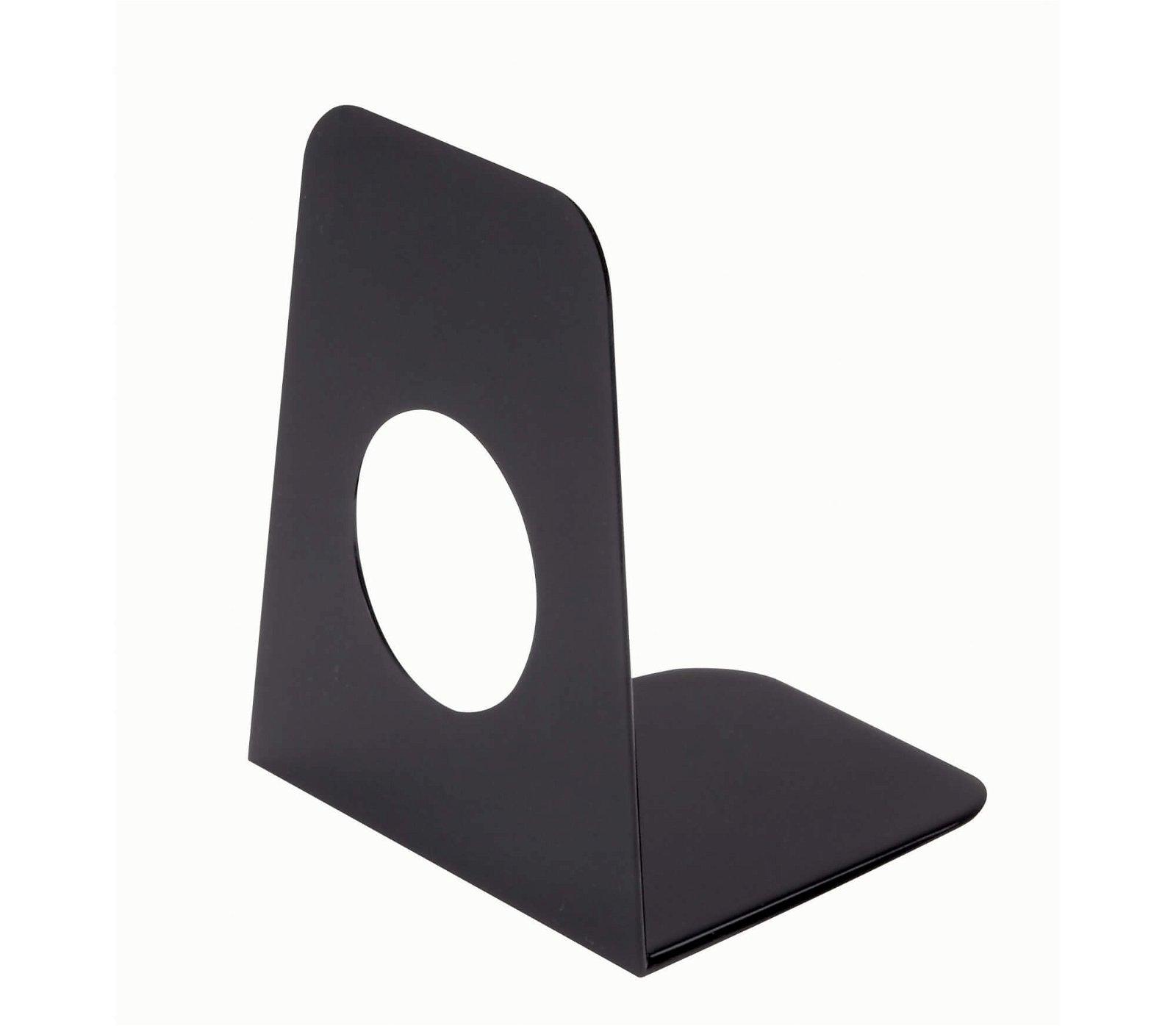Buchstützen aus Kunststoff 9 x 10,5 x 12 cm, schwarz