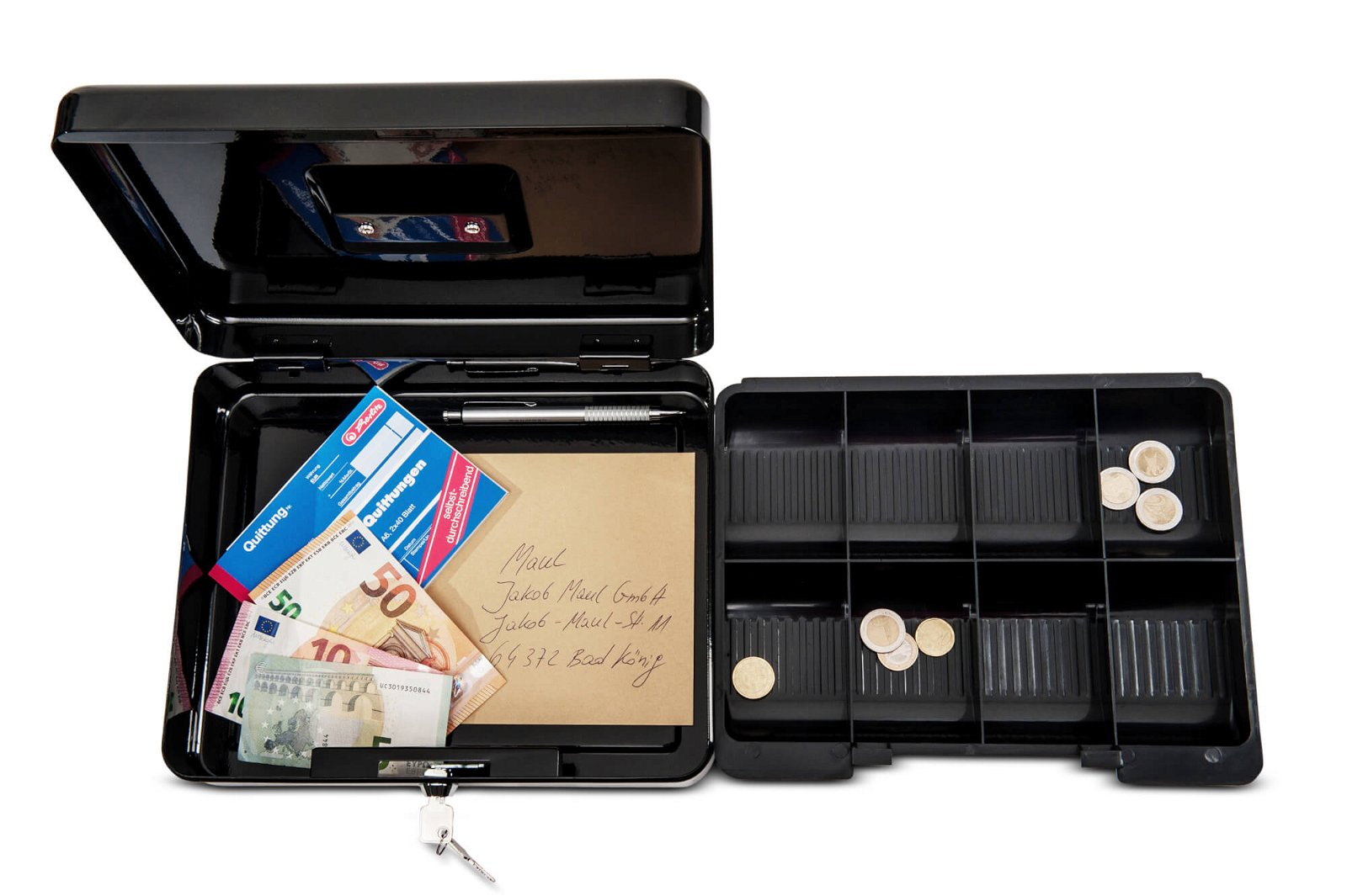 Geldkassette 4, 30 x 24,5 x 9 cm, schwarz