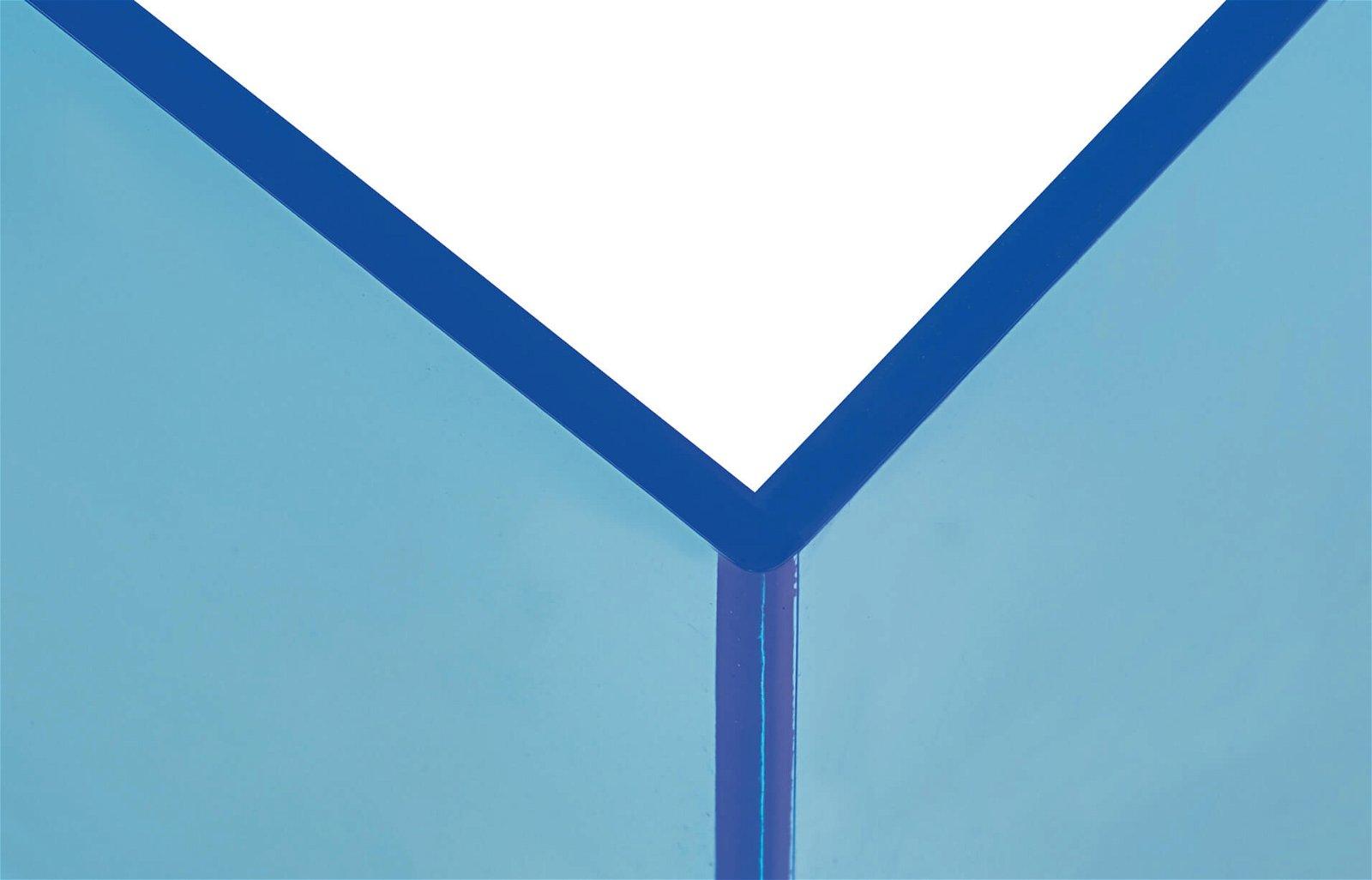 Buchstützen aus Acryl, Neon, blau