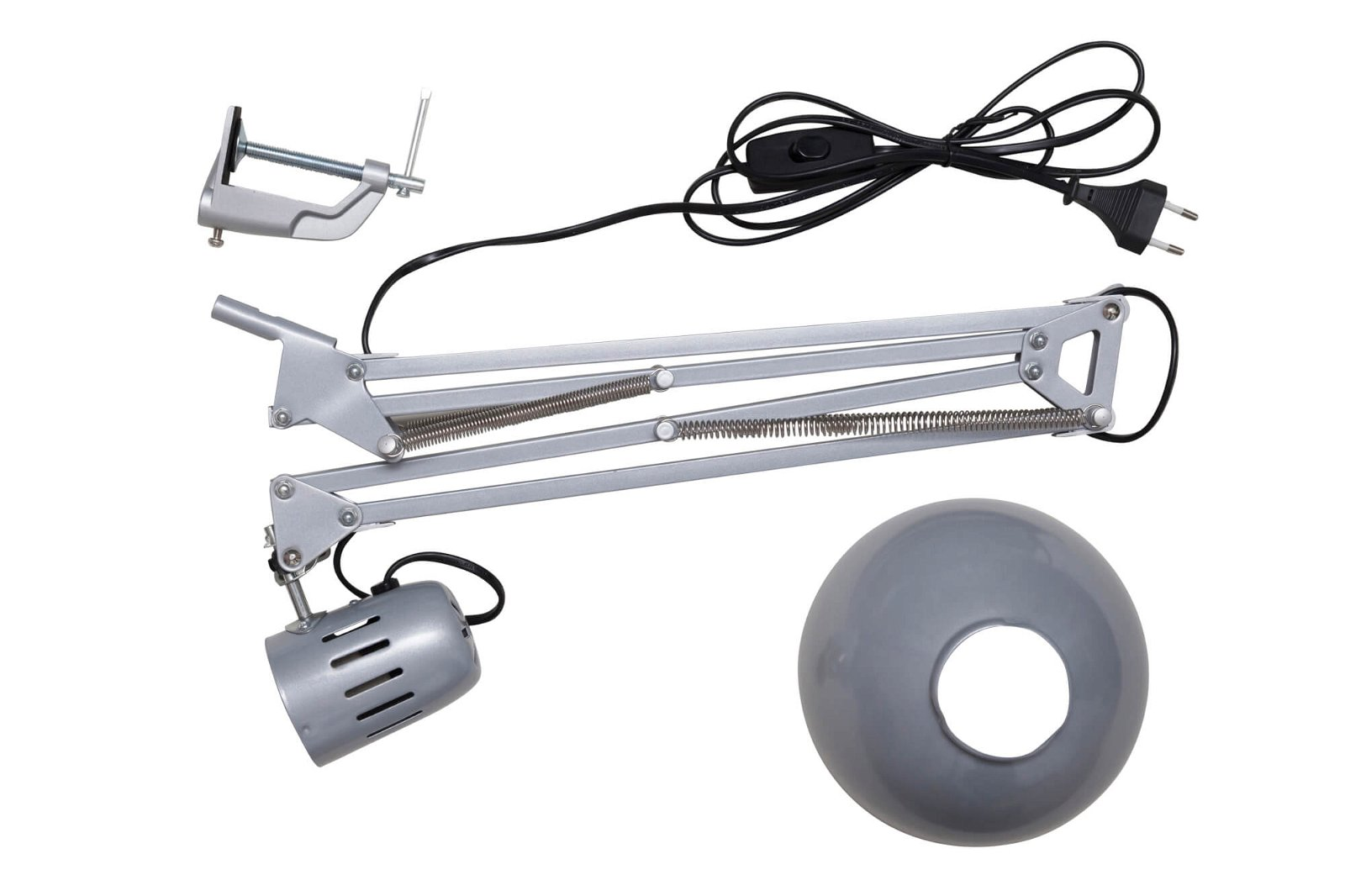Energie-Sparleuchte MAULstudy, exkl. Leuchtmittel, silber