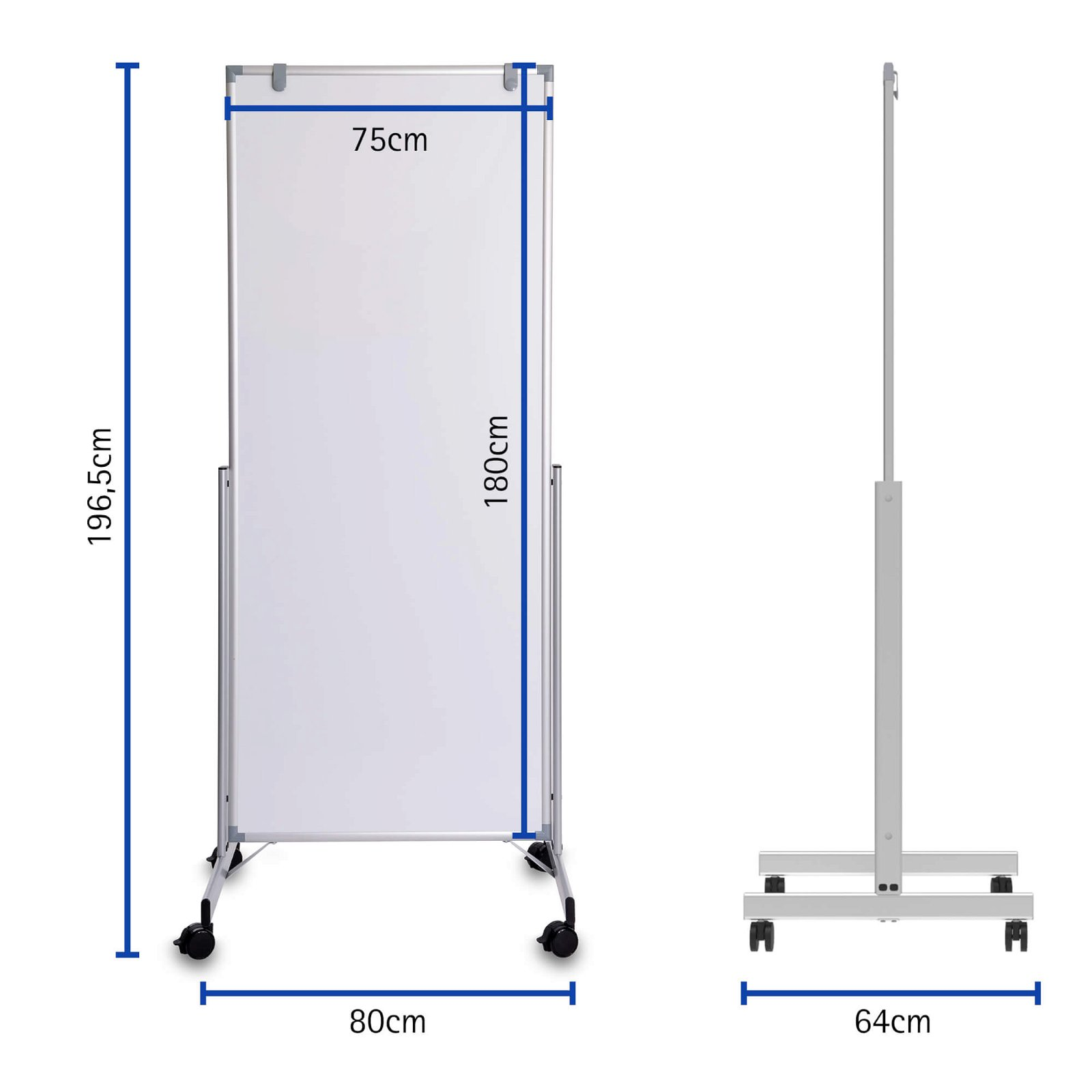 Whiteboard mobil MAULpro