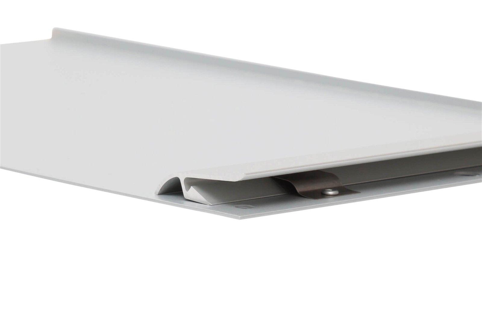 Schreibplatte, Aluminium mit Anschlagkante