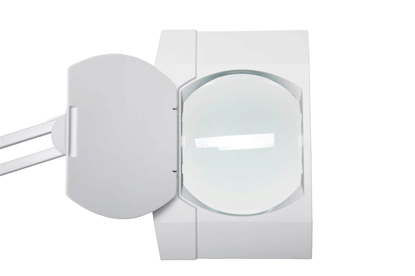 Energiespar-Lupenleuchte MAULvitrum, mit Standfuß, weiß