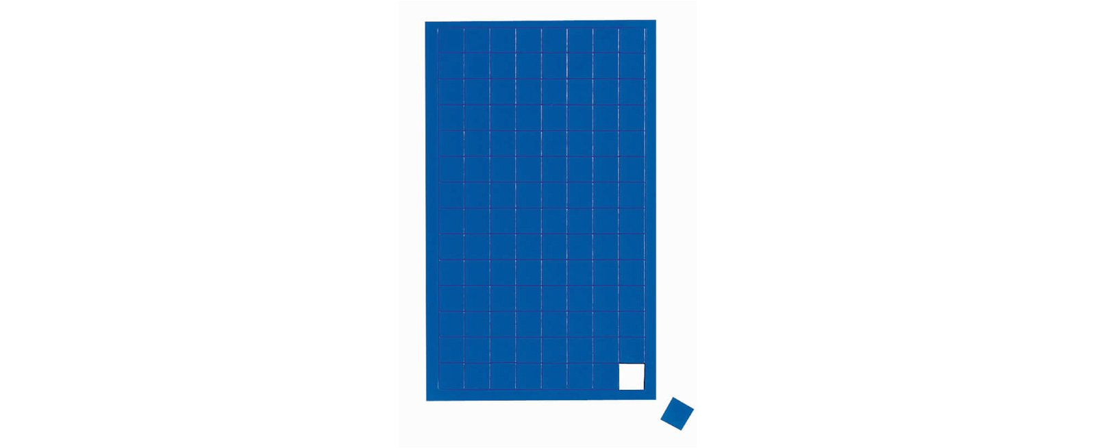 Magnetsymbole Quadrat,  112 St./Btl., blau