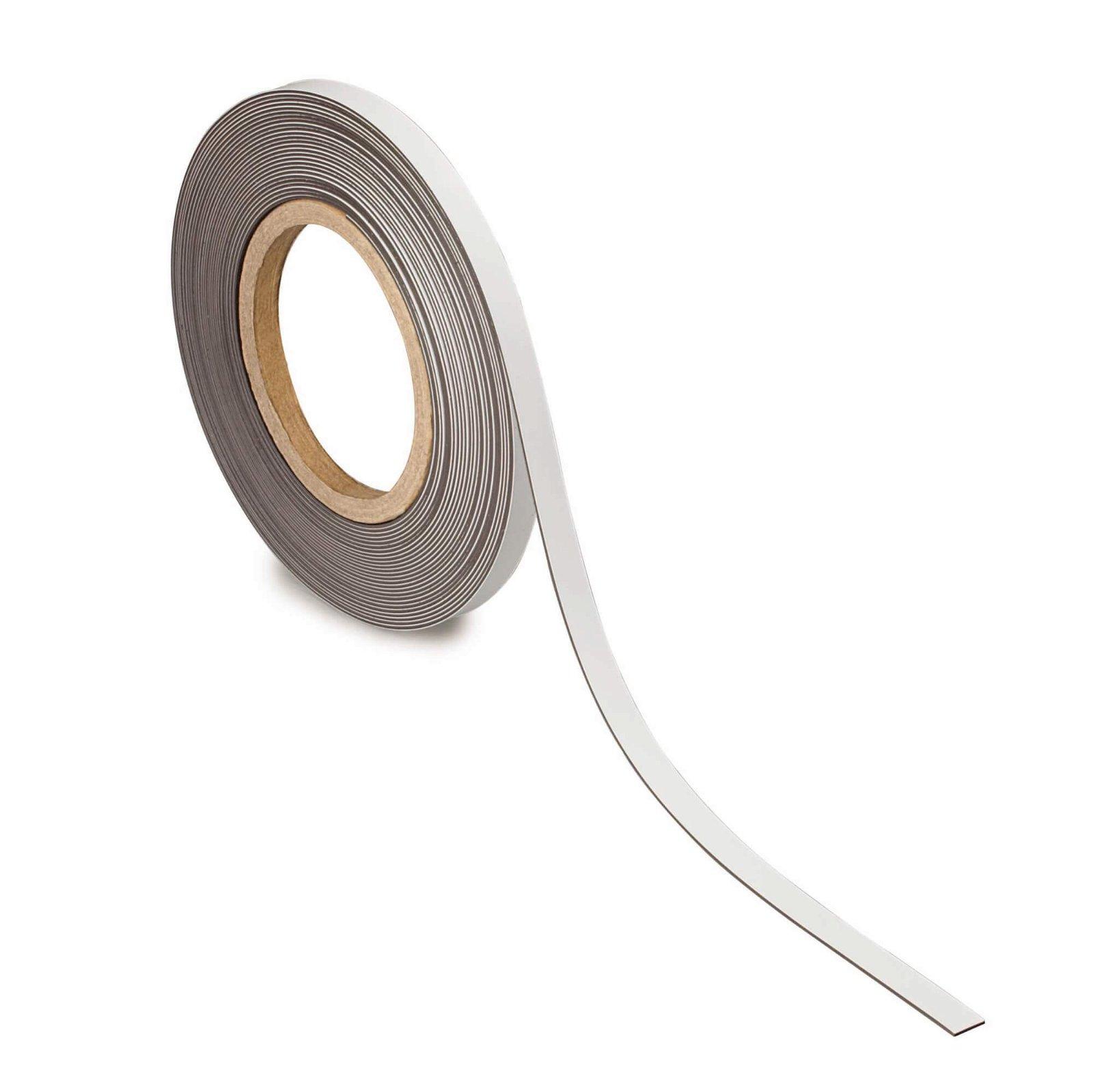 Kennzeichnungsband magnet- haftend, 10 m x 10 mm x 1 mm, weiß