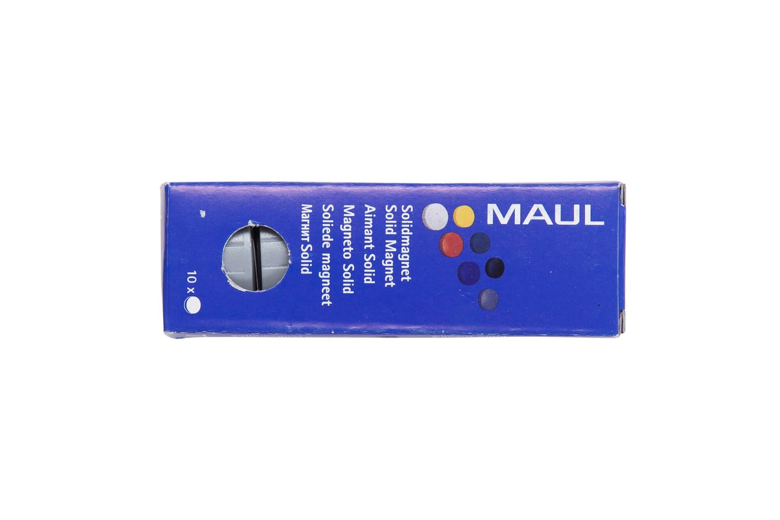 Magnet MAULsolid Ø 32 mm, 0,8 kg Haftkraft, 10 St./Ktn., grau