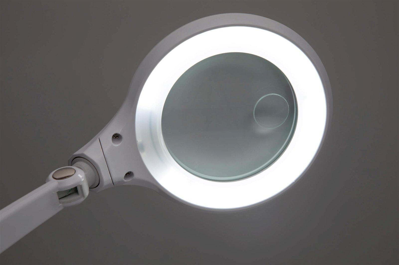 LED-Lupenleuchte MAULiri, weiß, dimmbar