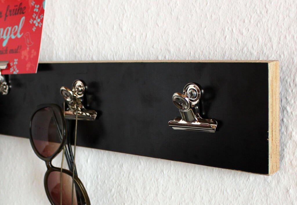 Brief-Klemmer, Breite 30 mm, 10 St./Btl., hellsilber