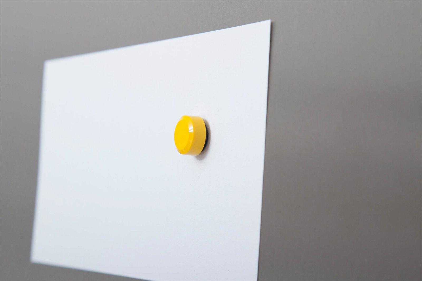 Facetterand-Magnet MAULpro Ø 15 mm, 0,17 kg, 20 St./Set, gelb