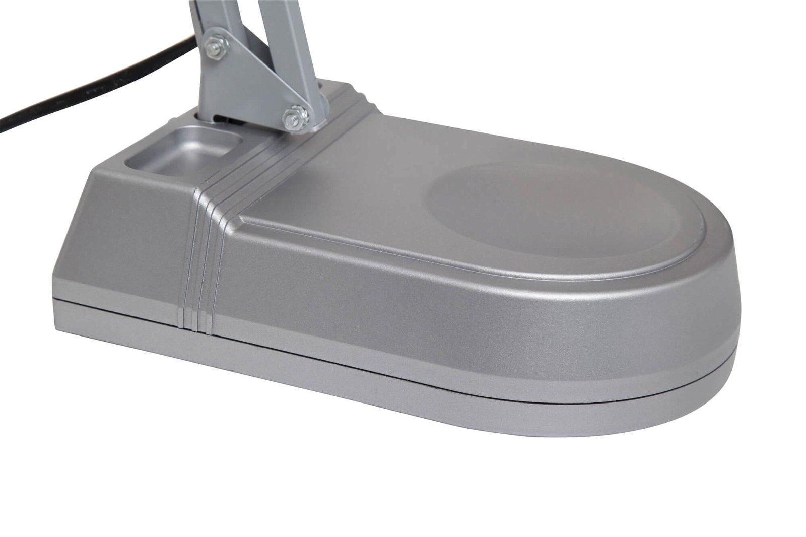 LED-Tischleuchte MAULatlantic, mit Standfuss, silber