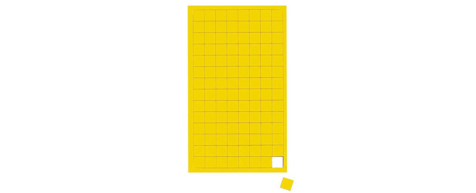 Magnetsymbole Quadrat,  112 St./Btl., gelb