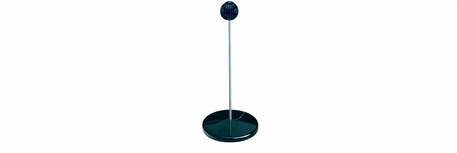 Zettelspießer, mit Schutzknopf, schwarz