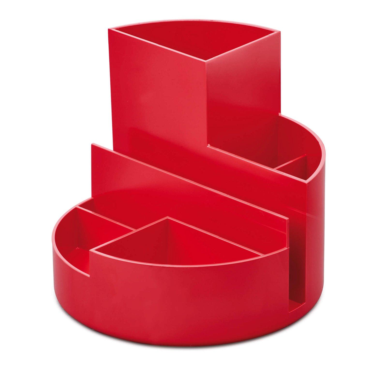 Schreibtischorganizer MAULrundbox Eco, rot