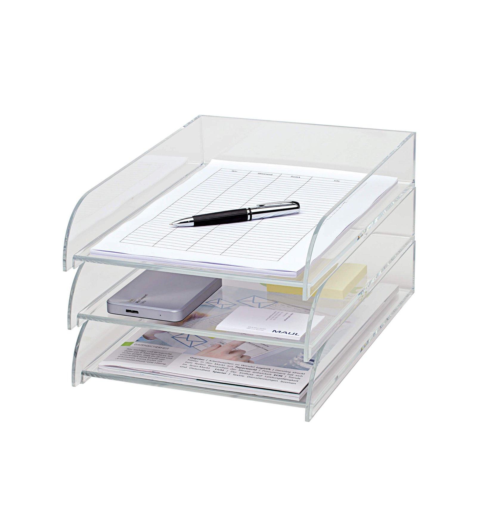 Acryl-Briefablage, DIN A4, glasklar