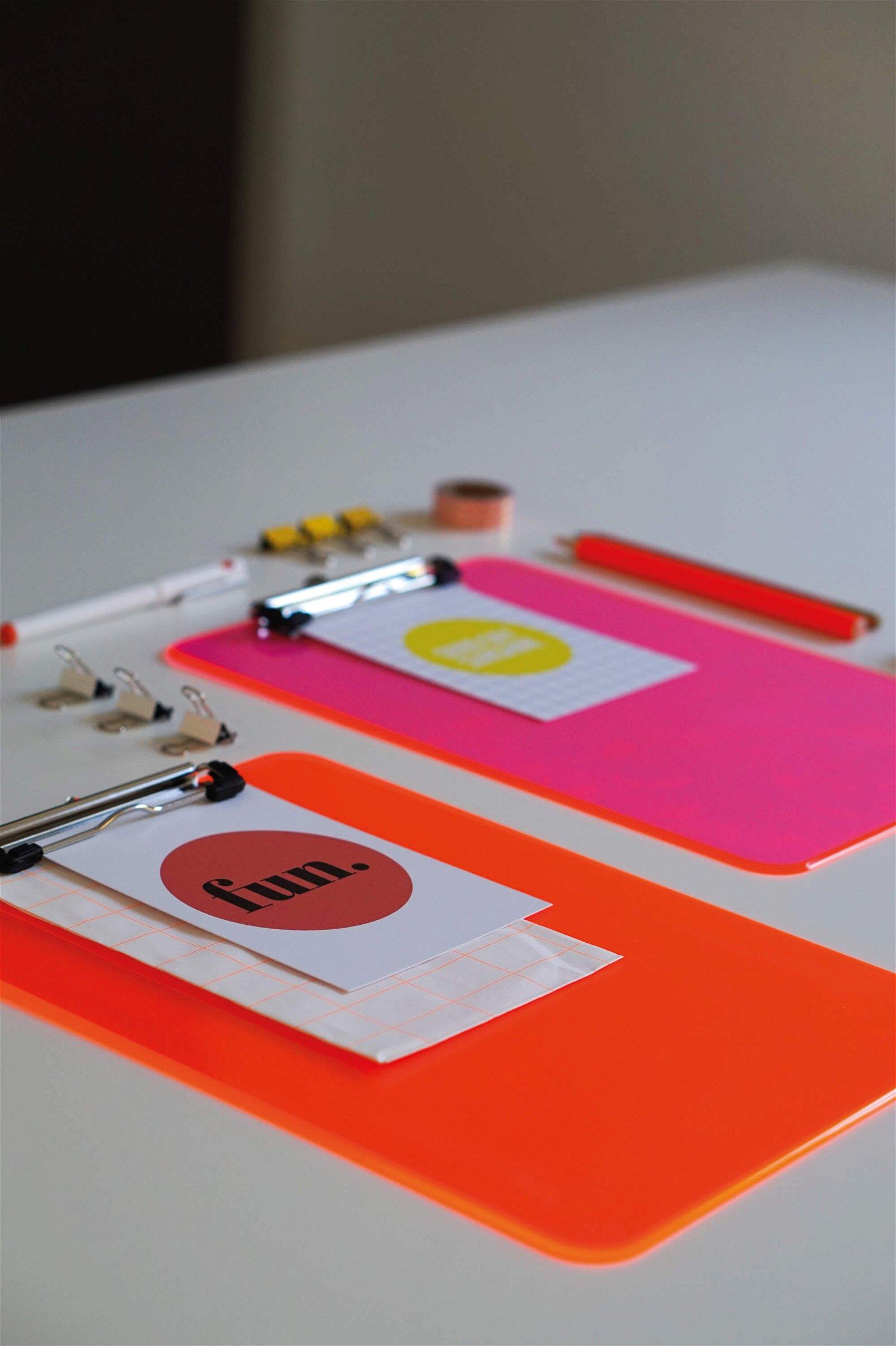 Schreibplatte MAULneon pink